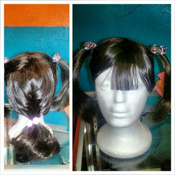 Quick style on a kids wig made by the one and only#atirassalon
