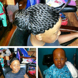 Twist with bun wig #hairloss#atirassalon