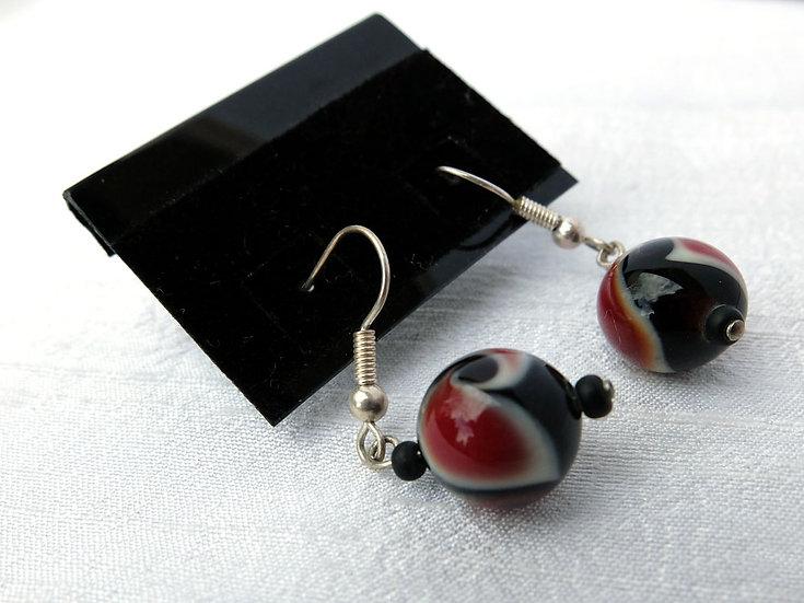 Red, White & Black Earrings
