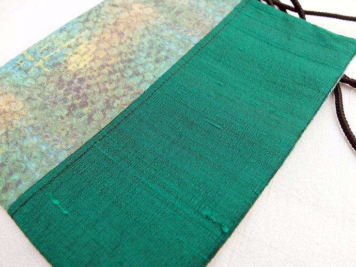 Silk & Cotton Pouch in Texture Print