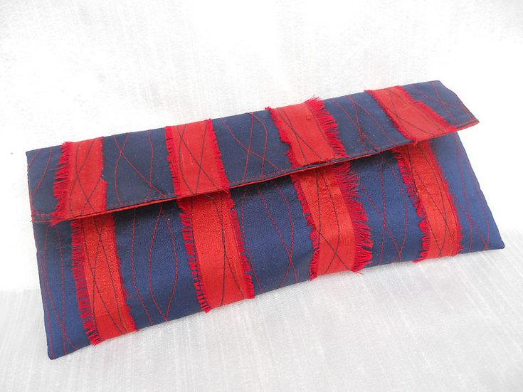 Classic Silk Wristlet Clutch