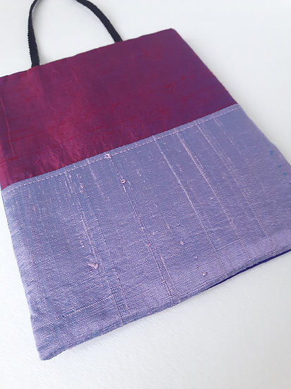Silk Pouch Bag in Lilac, Plum and Violet