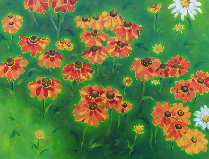 Heleniums Greeting Card
