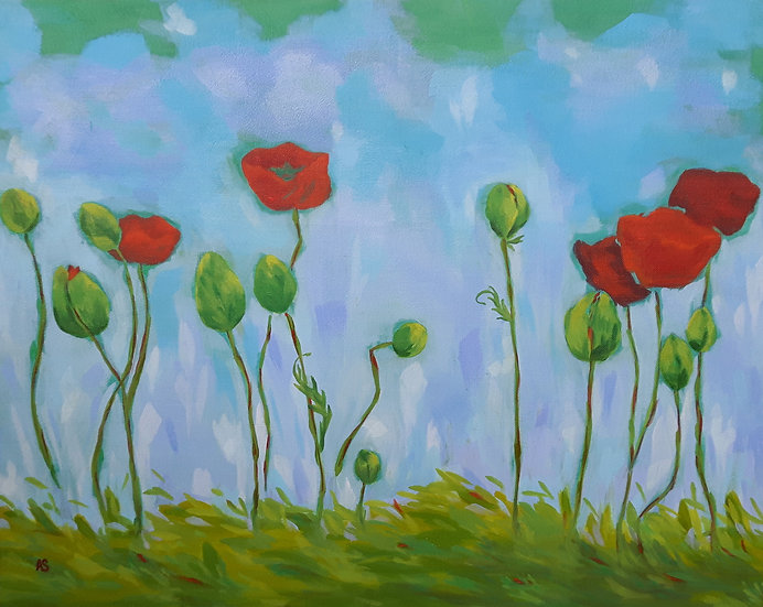 Poppies in the Sun Greeting Card