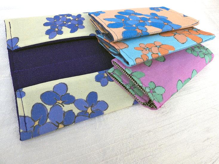 Card Holder in Violet Print