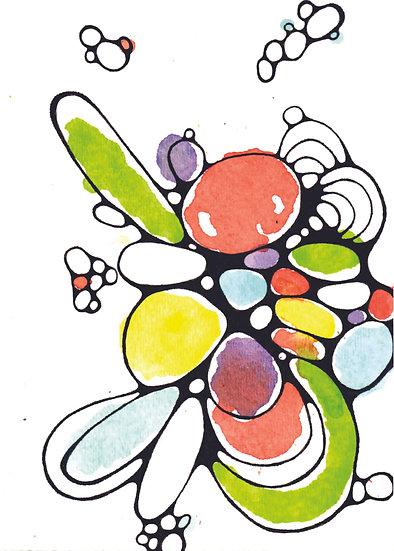 Spring Pastels Greeting Card