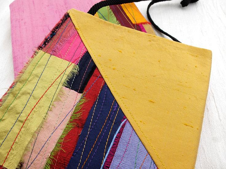 Silk Applique Pouch