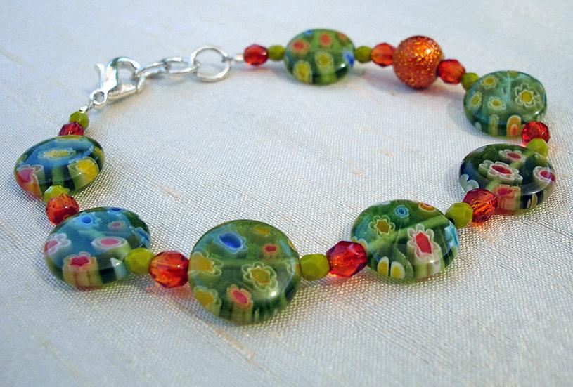 Spring Orange Bracelet