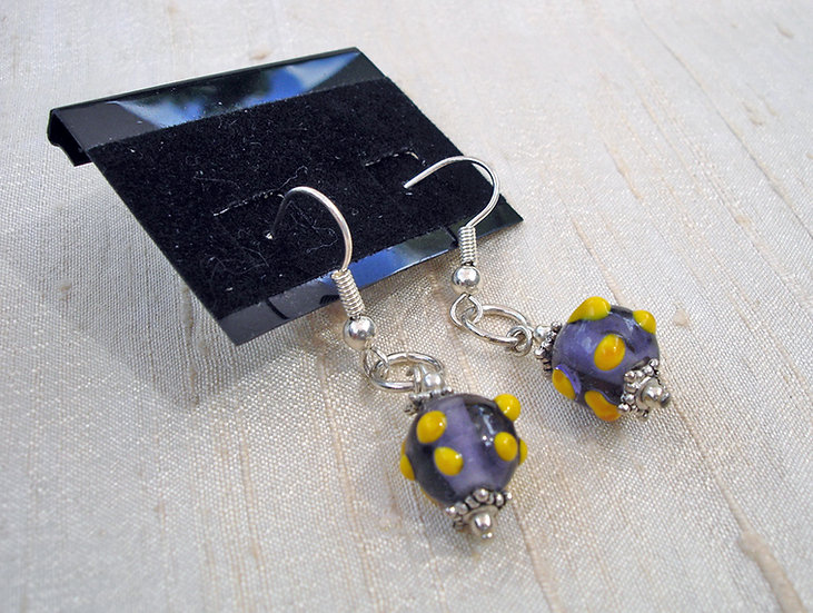 Yellow & Purple Earrings