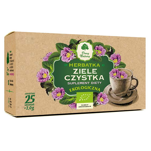 Herbatka z ziela CZYSTKA eko 25x2g DARY NATURY