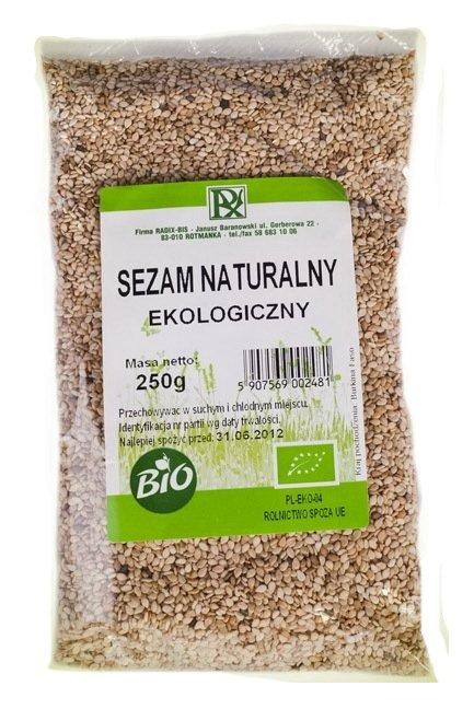 Sezam NATURALNY ekologiczny 250g RADIX