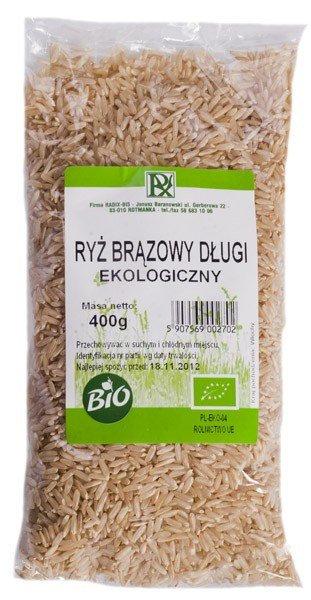 Ryż BRĄZOWY Długoziarnisty ekologiczny 400g RADIX