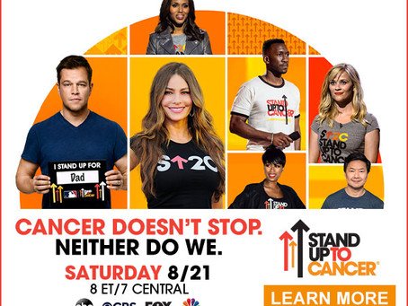 More Stars Join Stand Up To Cancer Roadblock Fundraising Telecast and Streaming Event
