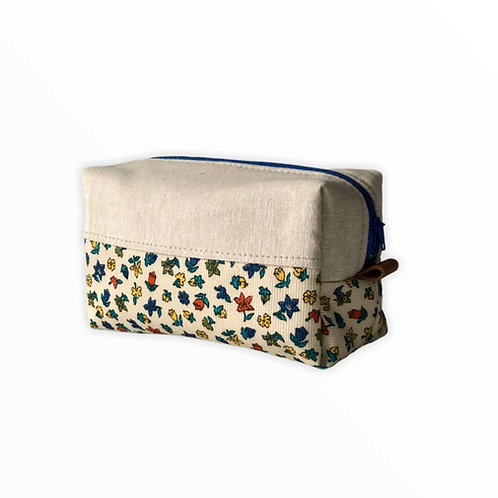 Keten Çiçekli Kutu Çanta