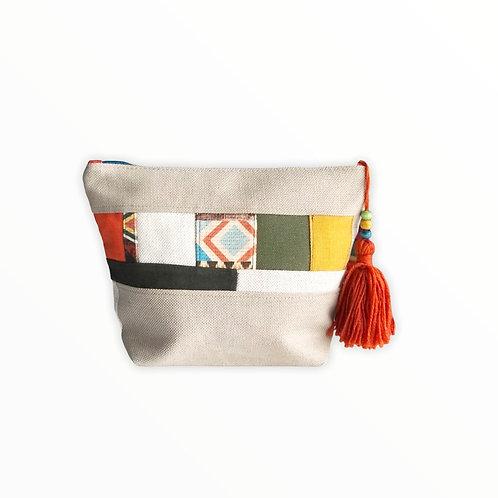 Patchwork Fermuarlı Çanta