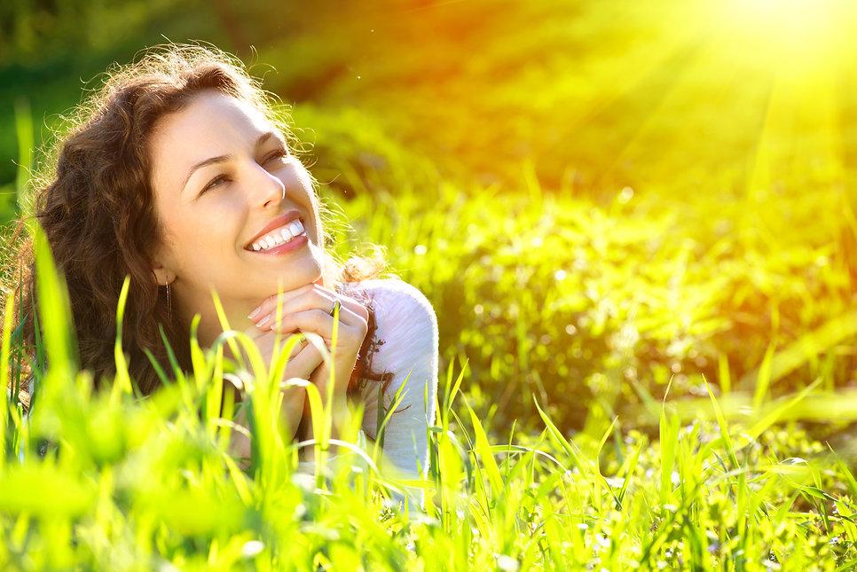 Beautiful Young Woman Outdoors. Enjoy Na