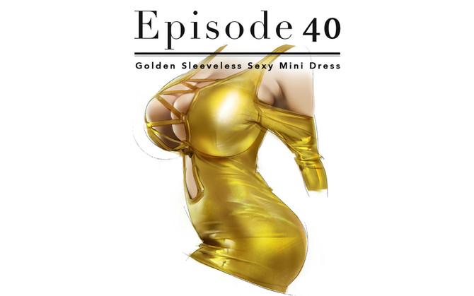 Episode 40-Golden Sleeveless Sexy Mini Dress