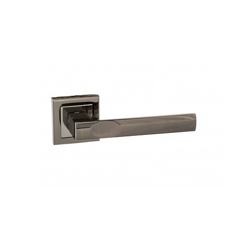 Kansas Square Rose Handles - Black Nickel