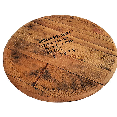 Personalized Bourbon Barrel Lazy Susan - Natural
