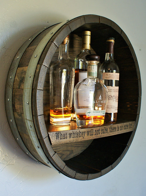 Whiskey Barrel Shelf