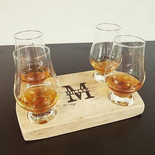 Personalized Bourbon Whiskey Flight