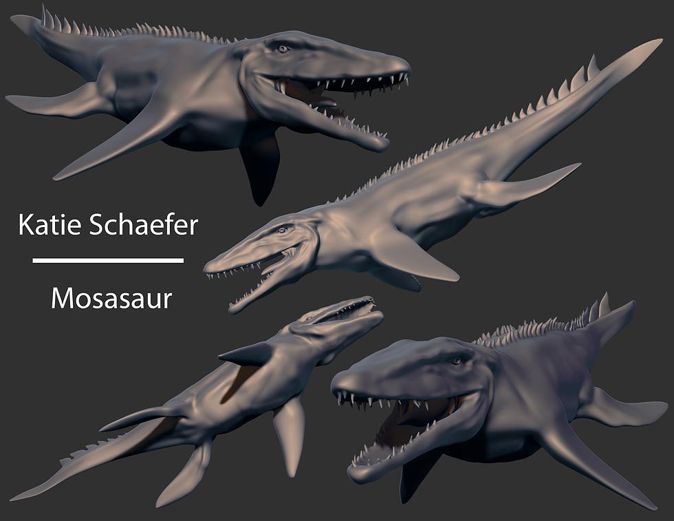 KatieSchaefer_Week2_AnimalSculptOne_Mosasaur.png