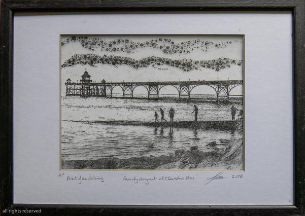 Family Day out Etching