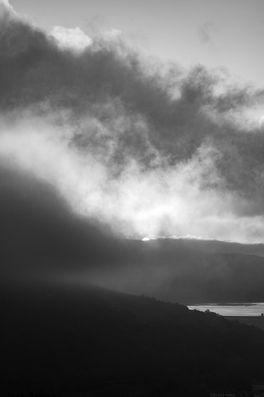 Misty morning on Axbridge Reservoir-from Kings Wood-4