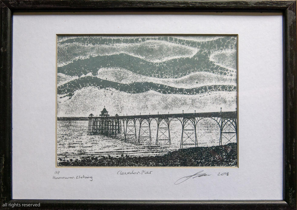 Clevedon Pier Etching