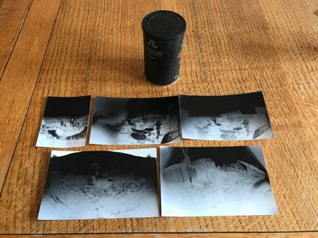 Going back in photo-tech with a pinhole camera