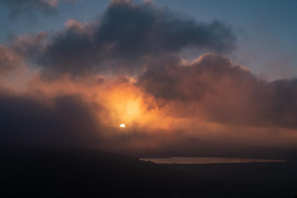 Misty morning on Axbridge Reservoir-from Kings Wood-17