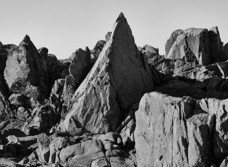 Guernsey Rocks Linocut