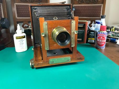Refurbishing Antique Bellows Cameras