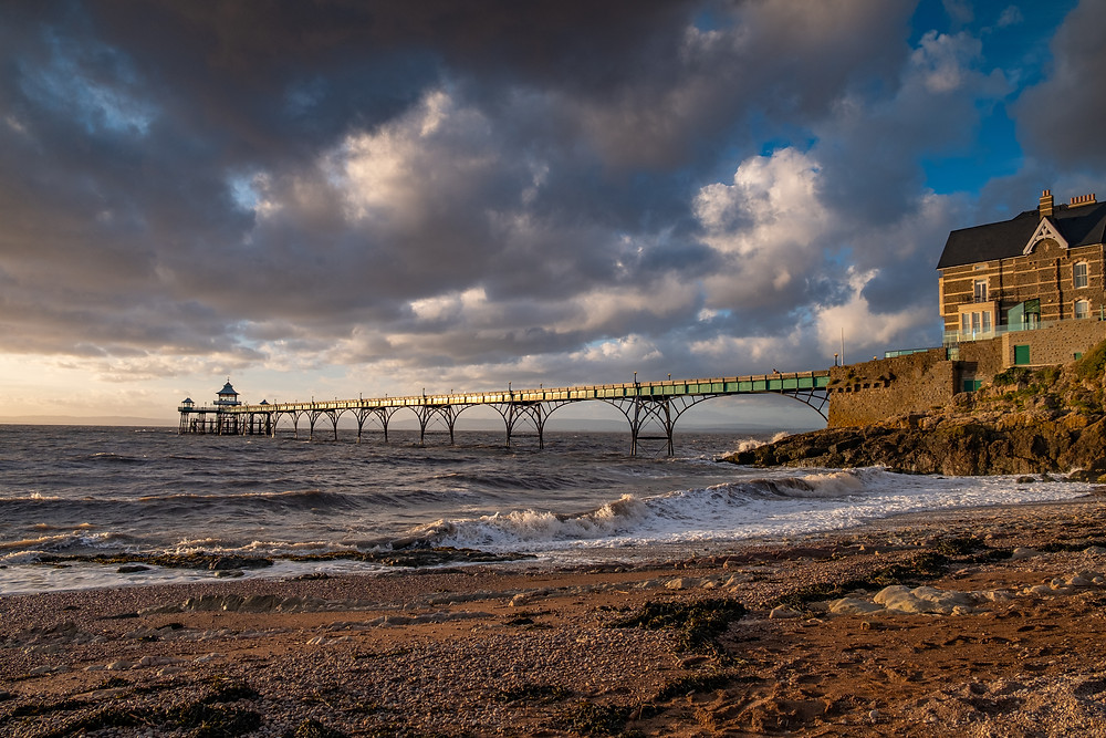 clevedon pier at sunset-3