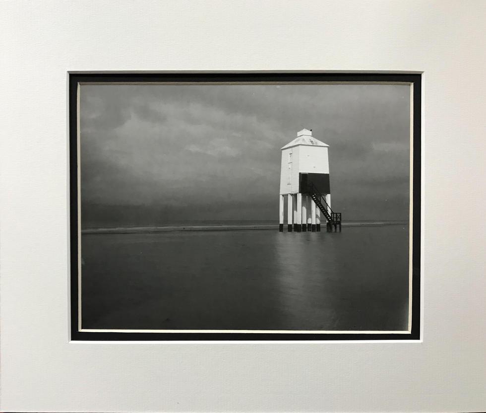 Burnham Low Lighthouse as the tide rises.
