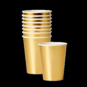 Gobelets en papier dorée