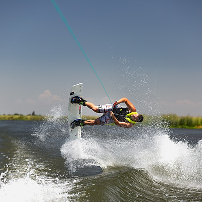 Wakeboarding in the Delta