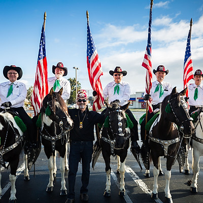 Aahmes Mounted Patrol St. Patricks Day Parade