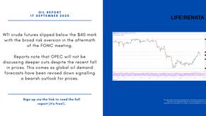 Daily Oil Report - 17 September 2020