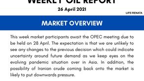 Weekly Oil Report - 26 April 2021