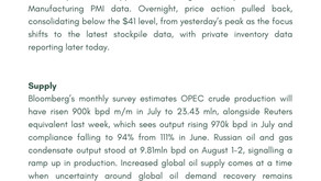 Daily Oil Report - 04 August 2020