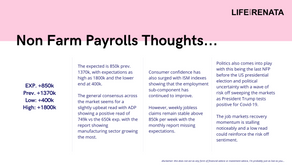 Non-Farm Payrolls Thoughts - September 2020