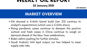Weekly Oil Report - 25 January 2021