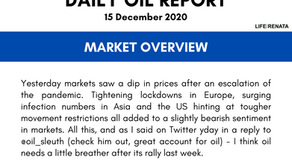 Daily Oil Report - 15 December 2020