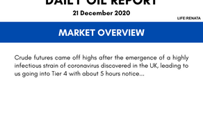 Daily Oil Report - 21 December 2020