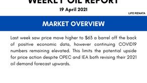 Weekly Oil Report - 19 April 2021