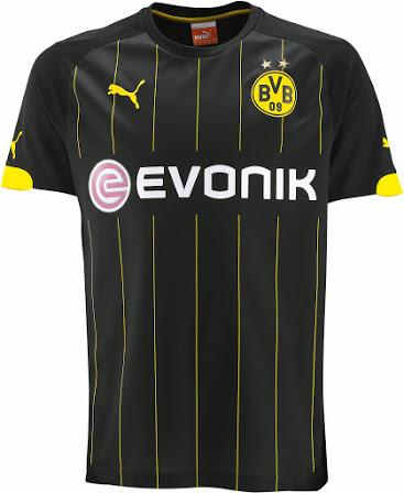 5fb711341 Camisa Borussia Dortmund Away 14 15 Puma Dry     Personalização Grátis