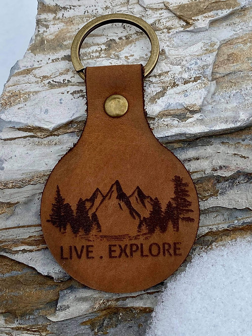 Live Explore - Leather Keychain