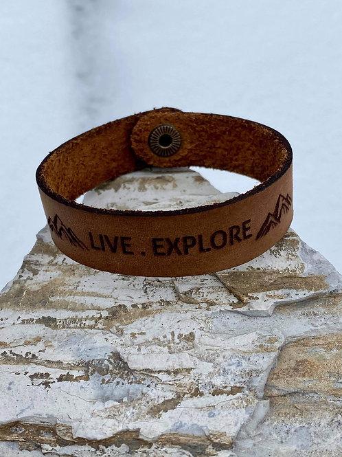 Live Explore Bracelet - Genuine Leather