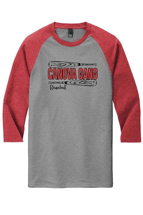 Canova Gang - Ladies Glitter Graphic 3/4 Ragland shirt